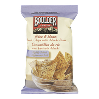Boulder Canyon  Rice with Adzuki Bean Snack Chips, Natural Salt (142g)  - Urbery