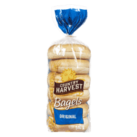 Country Harvest  Bagels, Original (6x90g)  - Urbery