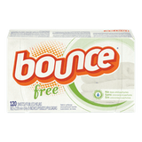 Bounce Dryer Sheets, Free & Sensitive (120sh)