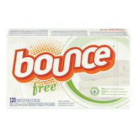 Bounce Dryer Sheets, Free & Sensitive (120sh)  - Urbery