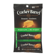 Kraft Cracker Barrel Cheese Snacks Medium Cheddar (168g)