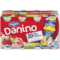 Danone Danifalse Drinkable Yogurt, Strawberry (8x93mL)  - Urbery