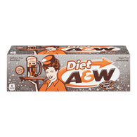A&W Diet Root Beer (12X355ML)  - Urbery