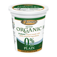 Olympic Fat Free Organic Yogurt, Plain (650g)  - Urbery