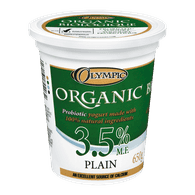 Olympic Organic Yogurt, Plain 3.5% (650g)  - Urbery