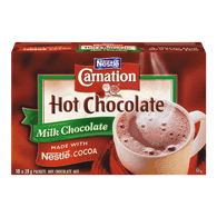 Carnation Hot Chocolate Packets, Milk Chocolate (10x28g)  - Urbery