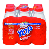 Yoplait Yop Drinkable Yogurt, Strawberry (6x200mL)  - Urbery