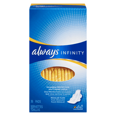 Always Maxi Pads Infinity Overnight With Wings (36ea)  - Urbery