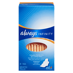 Always Maxi Pads Infinity Overnight With Wings (28ea)  - Urbery
