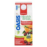 Oasis Health Break Health Break Juice Orange-Mango-Cranberry Cholestprevent (2L)  - Urbery