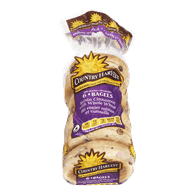 Country Harvest  Bagels, Cinnamon Raisin With Whole Wheat (6x90g)  - Urbery