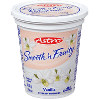 Astro Smooth 'N Fruity Yogurt, Vanilla (650g)  - Urbery