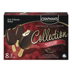 Chapman's Canadian Collection Ice Cream Bars, Double Dark Chocolate (8x55mL)