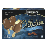 Chapman's Canadian Collection Ice Cream Bars, Creamy Milk Chocolate (8x55mL)