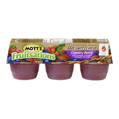 Mott's Fruitsations Unsweetened Country Berry (6x111g)