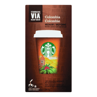 Starbucks VIA Instant Coffee, Colombia Medium (6ea)  - Urbery