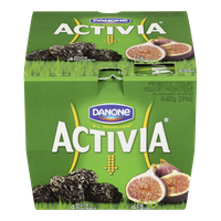 Danone Activia Probiotic Yogurt, Prune/Fig (8x100g)  - Urbery