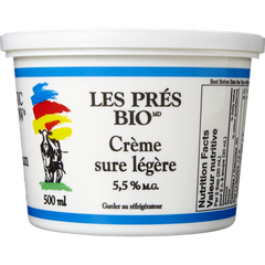 Organic Meadow Sour Cream 14% Light (500ML)  - Urbery