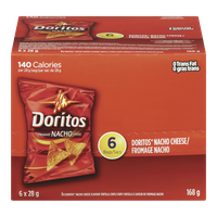 Doritos Flavoured Tortilla Chips, Nacho Cheese (168g)  - Urbery