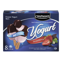 Chapman's Options Frozen Yogurt Bar Strawberry Dark Chocolate (8X55ML)