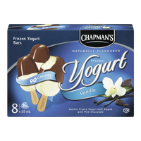 Chapman's Frozen Yogurt Bars Vanilla Milk Chocolate (8X55ML)