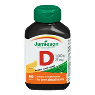 Jamieson Vitamin D Chewable Tangy Orange (100 e.a)