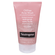 Neutrogena Oil Free Acne Wash Pink Grapefruit, Foaming Scrub (125mL)  - Urbery