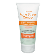 Neutrogena Oil Free Acne Stress Control Power Cream Wash (177mL)  - Urbery