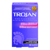 Trojan Condoms Ultra Ribbed (12 e.a)