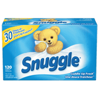 Snuggle Dryer Sheets, Cuddle-Up Fresh (120sh)  - Urbery