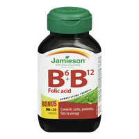 Jamieson Vitamin B6+B12 with Folic Acid (110 e.a)