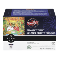 Keurig Timothy's Breakfast Blend Light Roast (12ea)  - Urbery