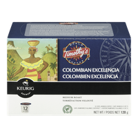 Keurig Timothy's Colombian Excelencia Medium Roast (12ea)  - Urbery
