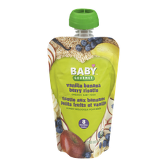 Baby Gourmet Baby Food 8 Months+, Vanilla Banana Berry Risotto (128mL)  - Urbery