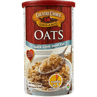 Country Choice Quick Cook Steel Oats (680g)  - Urbery