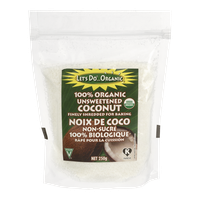 Let's Do Organic 100% Unsweetened Coconut, Shredded (250g)  - Urbery