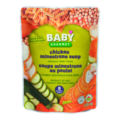 Baby Gourmet Baby Food 8 Months+ Chicken Minestrone Soup (128mL)  - Urbery
