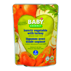 Baby Gourmet Baby Food 7 Months+, Hearty Vegetable with Turkey (128mL)  - Urbery