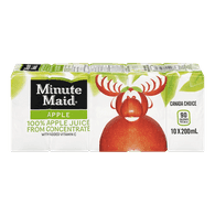 Minute Maid Apple Juice (10x200mL)  - Urbery
