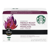 Keurig Starbucks French Roast Dark Roast (10ea)  - Urbery