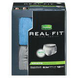 Depend Real Fit Briefs, For Men (12 ea)