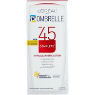 L'Oreal Ombrelle Ombrelle Complete Lotion, SPF 45 (120mL)  - Urbery