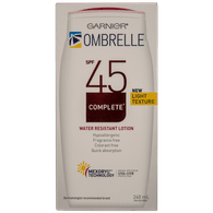 L'Oreal Ombrelle Complete Water Resistant Lotion, SPF 45 (240mL)  - Urbery