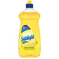 Sunlight Dishwashing Detergent Oxiaction, Lemon Fresh (740mL)  - Urbery