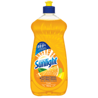 Sunlight Dishwashing Detergent Antibacterial, Orange (740mL)  - Urbery