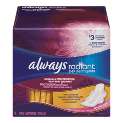 Always Maxi Pad Radiant Infinity Regular (16ea)  - Urbery