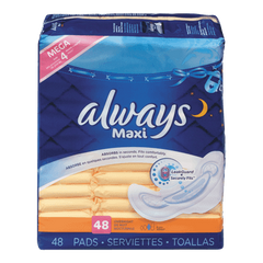 Always Maxi Pad Overnight (48ea)  - Urbery