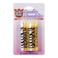 Cake Mate Candles, Animal Print (12ea)  - Urbery