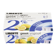 Liberte Greek Yogurt, Lemon 2% (4x100g)  - Urbery