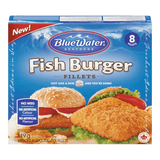 BlueWater Fish Burger Fillets (519g)
